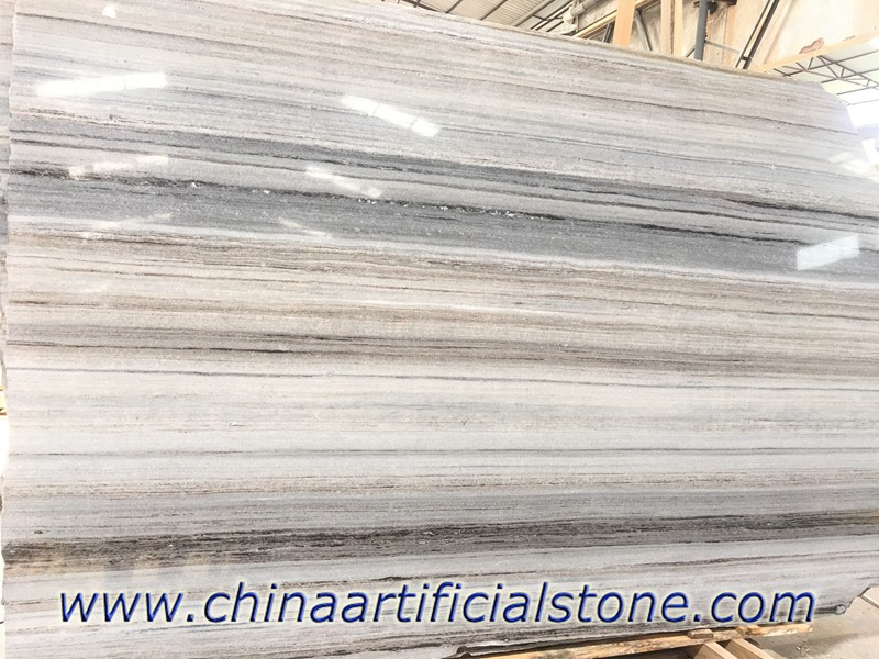 China Blue Wood Vein Grain Marble Slabs
