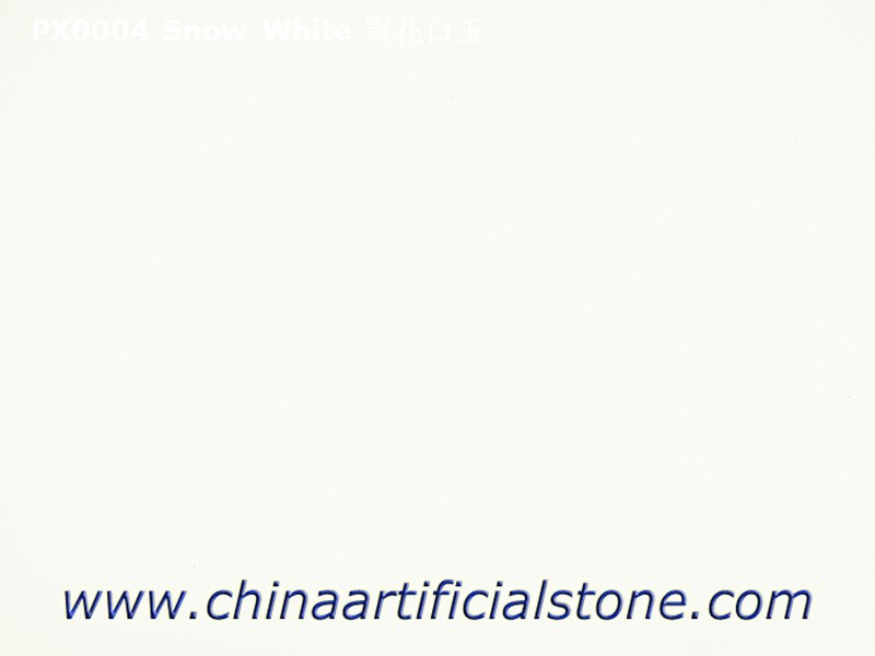 Pure White Artificial Marble Small Grain