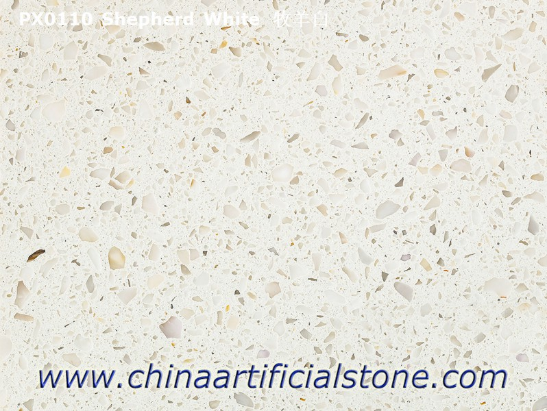 Shepherd White Artificial Marble Medium Grain