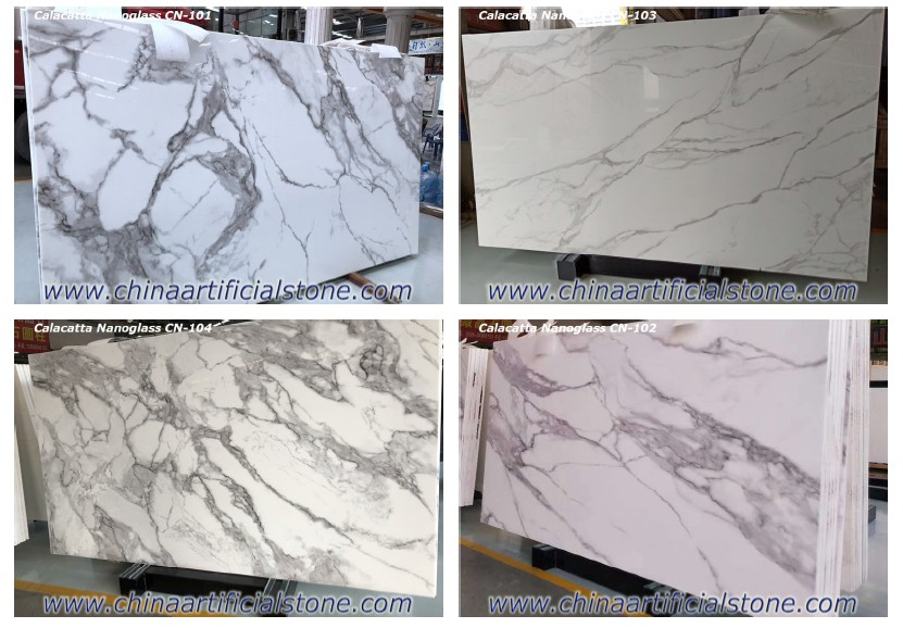 Calacatta Inject Printing Nano Crystallized Glass Stone