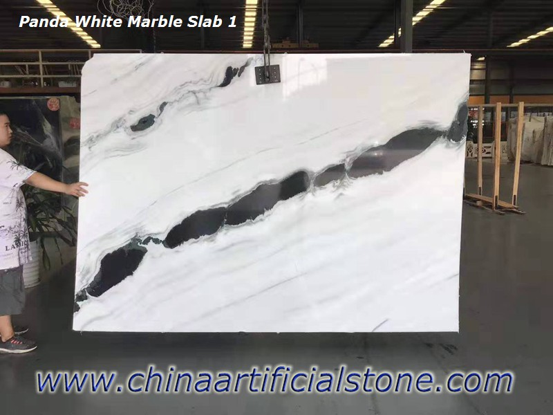 China Panda White Marble Slabs
