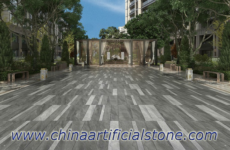 Grey Sandstone Porcelain Outdoor Pavers