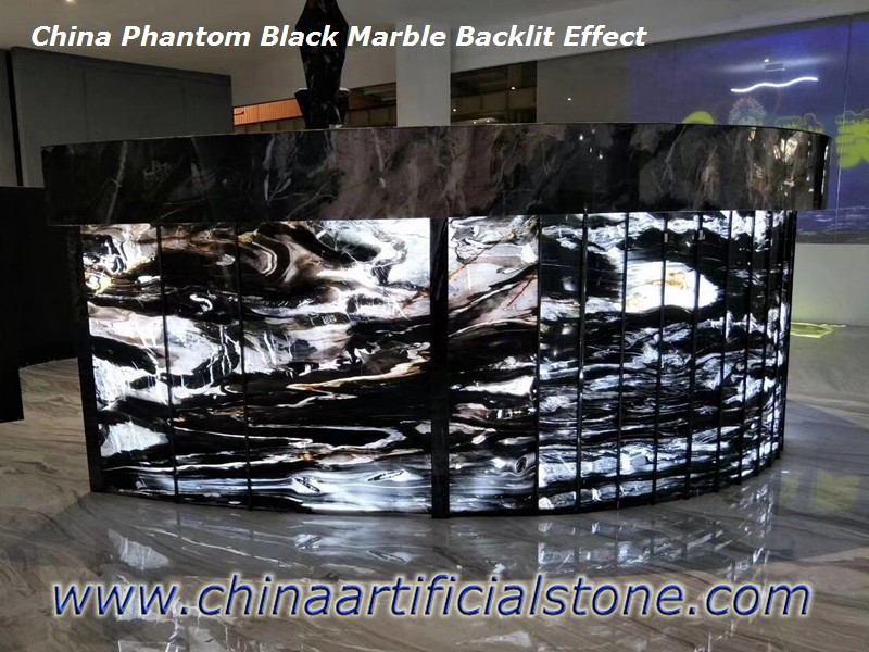 Backlit Black Marble Countertops
