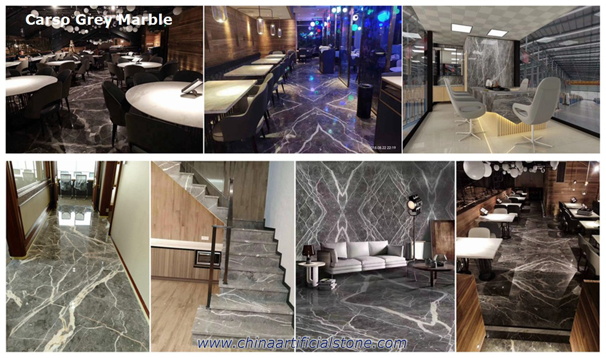 Carso Grey and white veins Marble Flooring