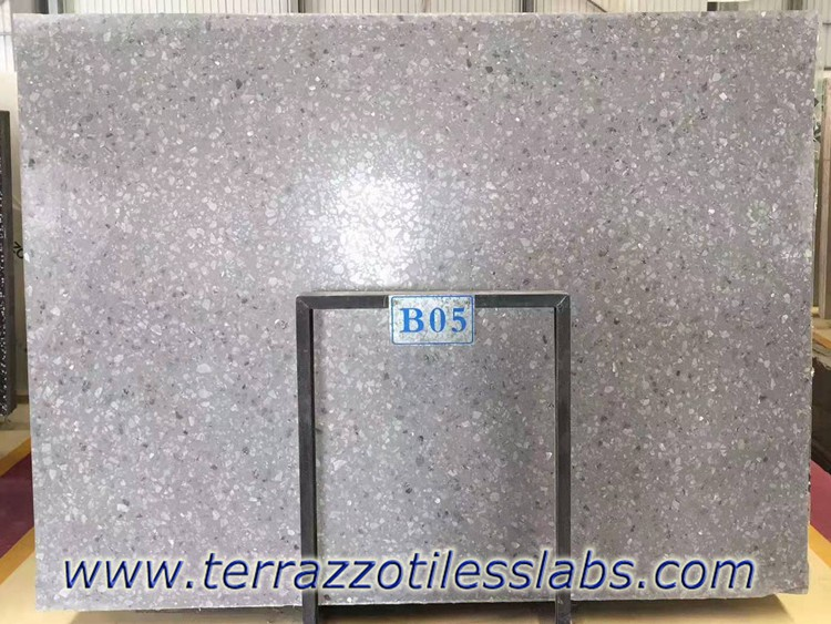 Large Grey Marble Aggregate Terrazzo Slabs
